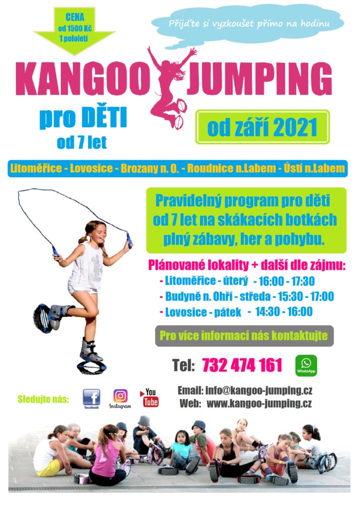 kangoo jumping děti Litoměřice Lovosice Budyně